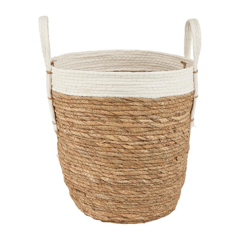 Ronde mand met witte rand ⌀32 cm