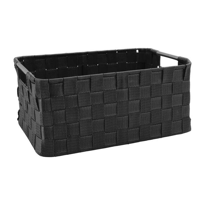 Lademand chroom handvat - zwart - 38x26x18 cm