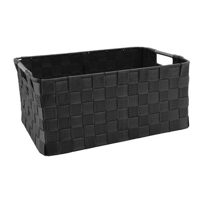 Lademand chroom handvat - zwart - 40x29x19 cm