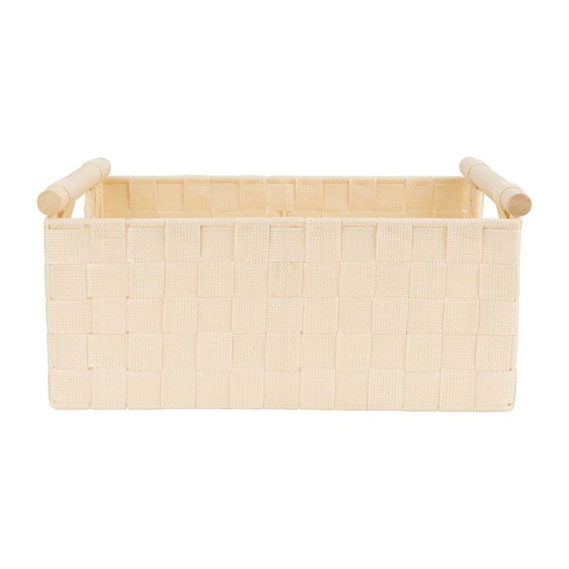 Lademand houten greep - beige - 23x36x16.5 cm