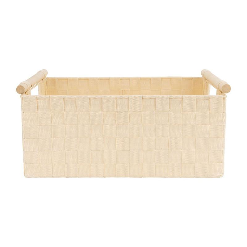 Lademand houten greep - beige - 28x42x18.5 cm