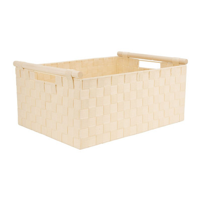 Lademand houten greep - beige - 33x47x21 cm