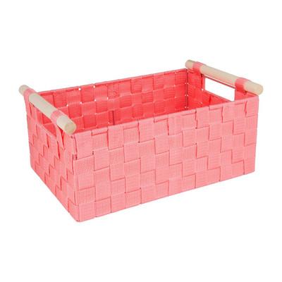 Lademand houten greep - roze - 23x36x16.5 cm
