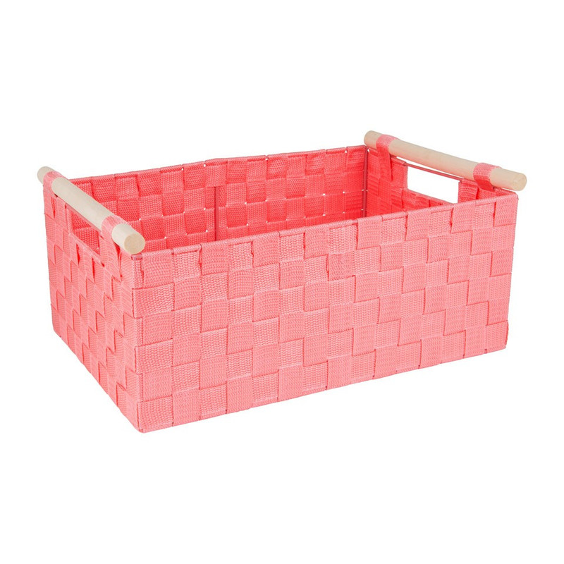 Lademand houten greep - roze - 28x42x18.5 cm