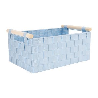 Lademand houten greep - blauw - 23x36x16.5 cm