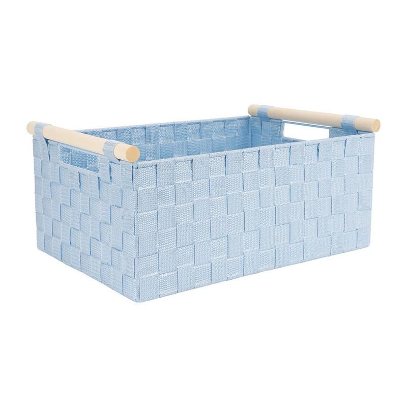 Lademand houten greep - blauw - 28x42x18.5 cm