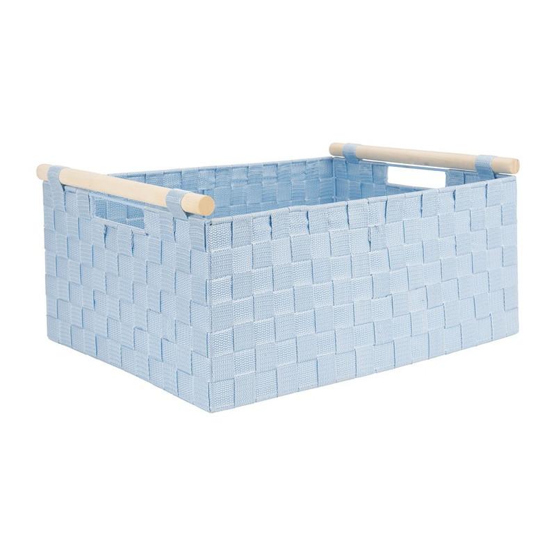 Lademand houten greep - blauw - 33x47x21 cm