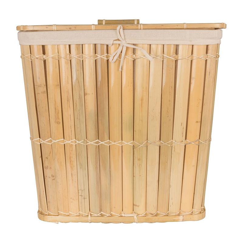 Wasmand bamboe - 47x34x48 cm