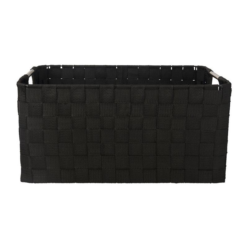 Lademand chroom handle - zwart - 36x26x16cm