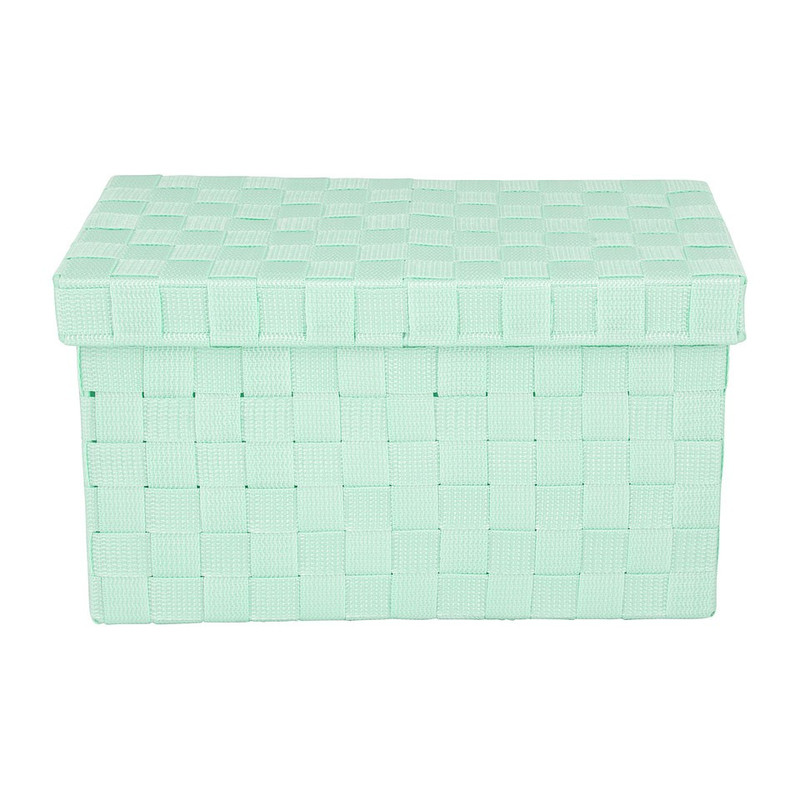 Gevlochten opbergbox S blauw