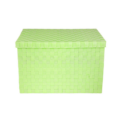 Gevlochten opbergbox XL groen