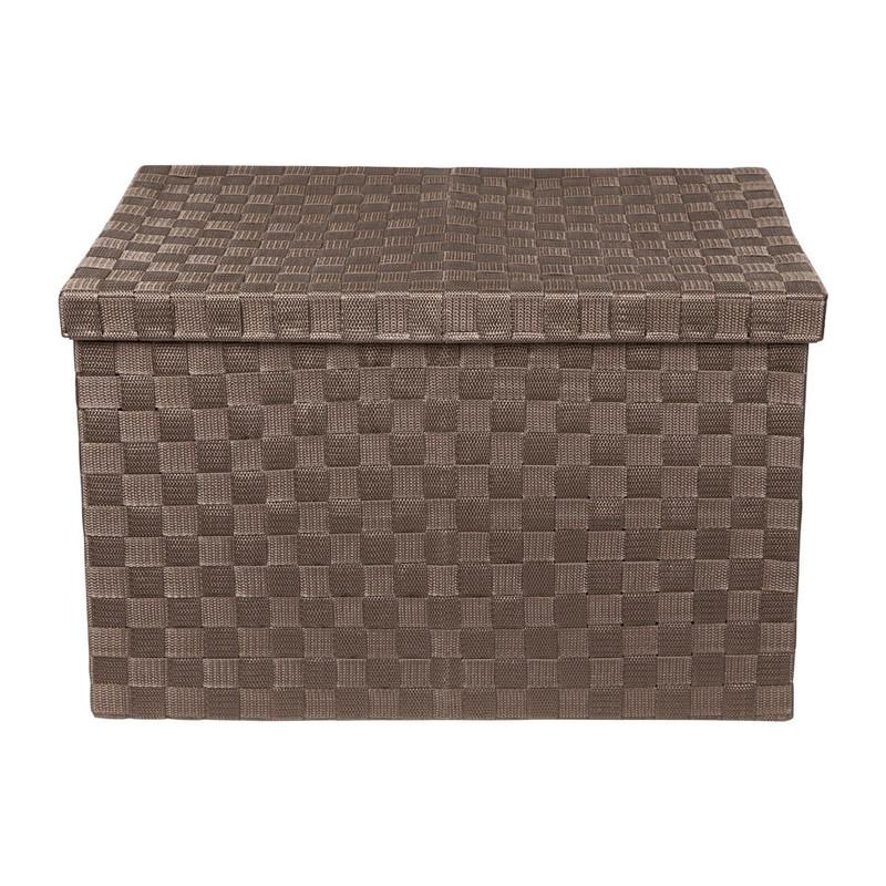 Gevlochten opbergbox XL bruin