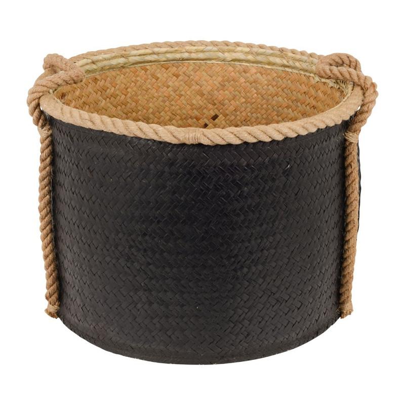 Mand rond met touw zwart groot