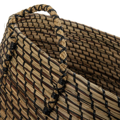 Wasmand Cobra - 44x30 cm - bruin/zwart