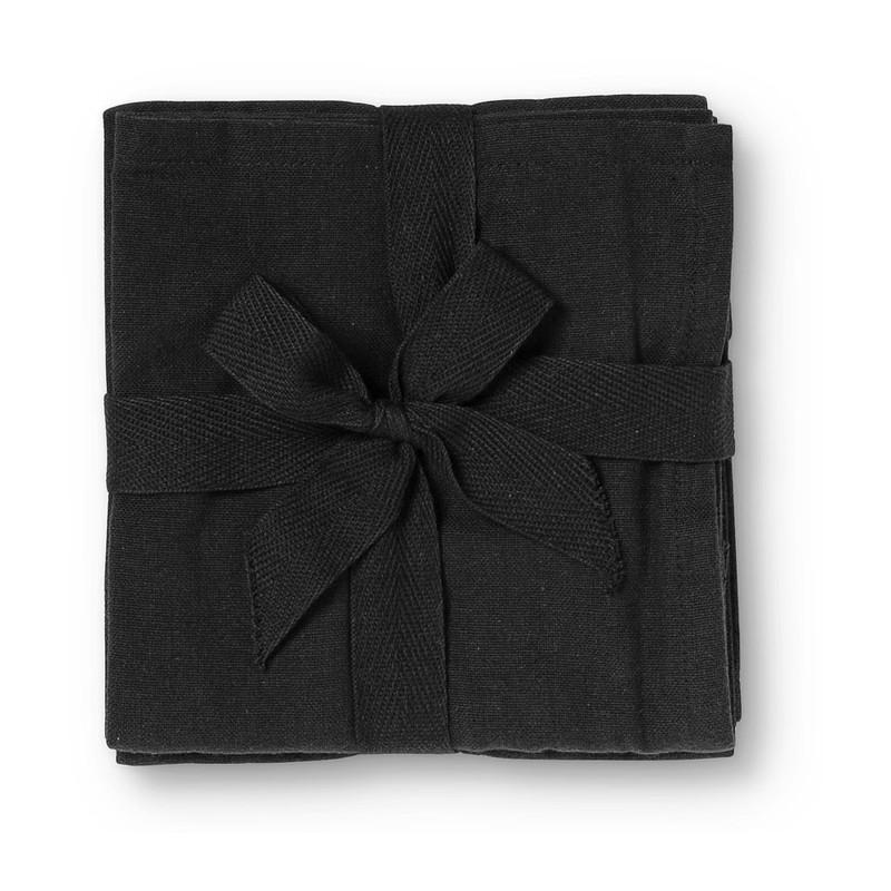 Theedoek uni - zwart - set van 2 kopen