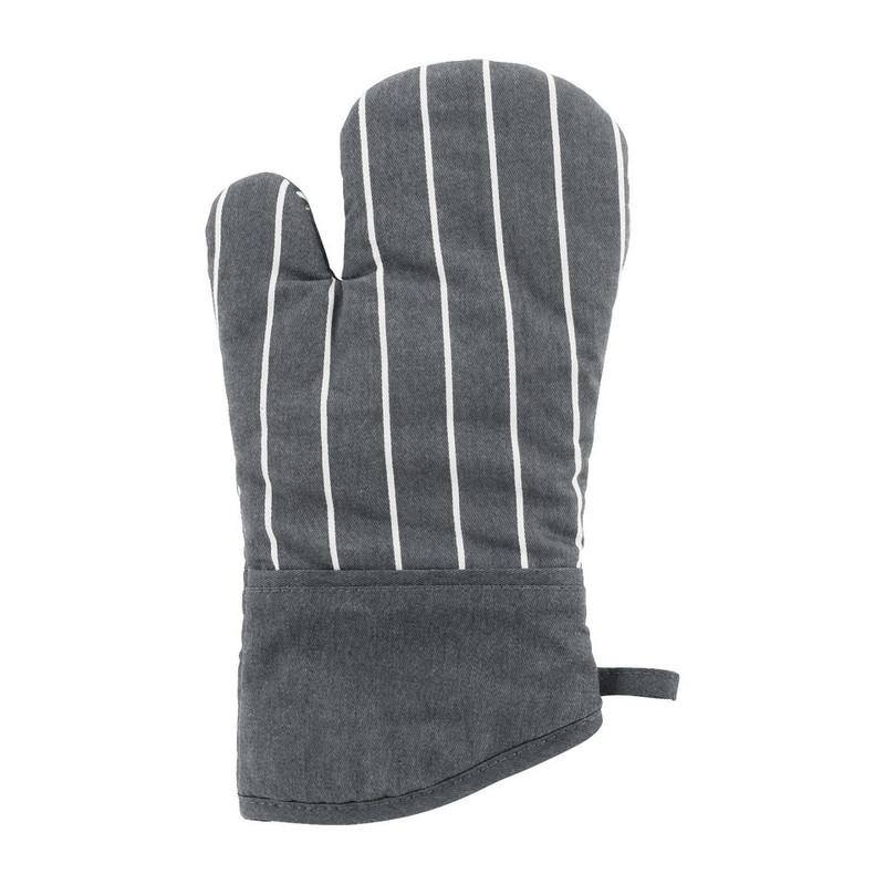Ovenwant streep - grijs/wit