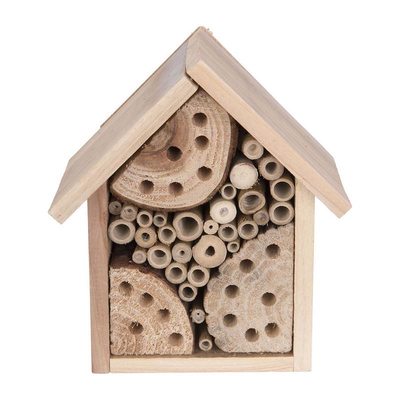 Insectenhotel huisje - 17x10.5 cm