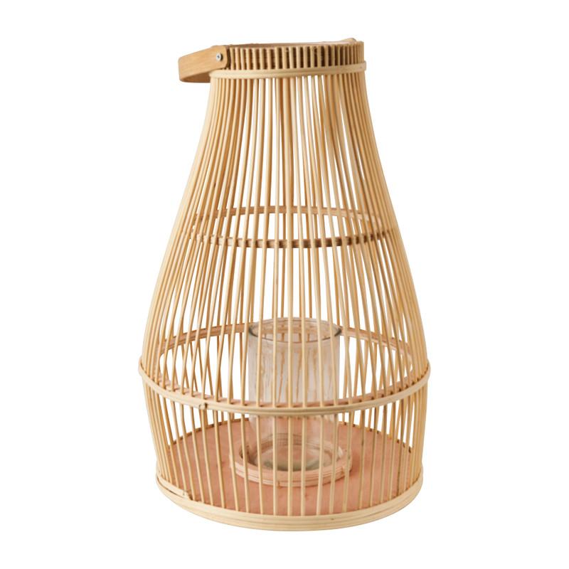 Lantaarn bamboe - ø30x47 cm