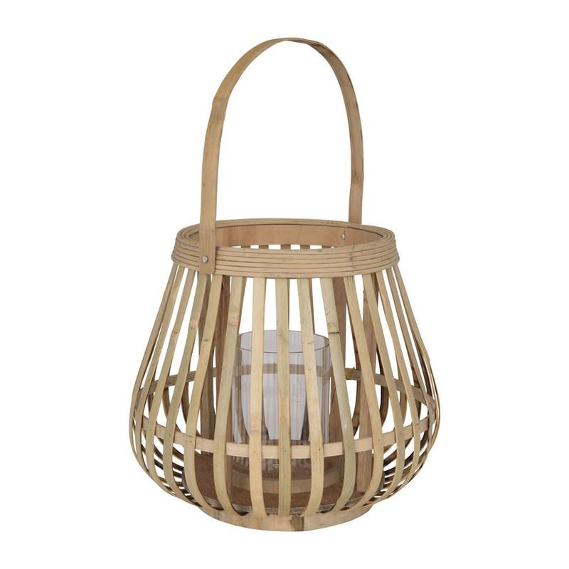 Lantaarn bamboe - 27x24 cm