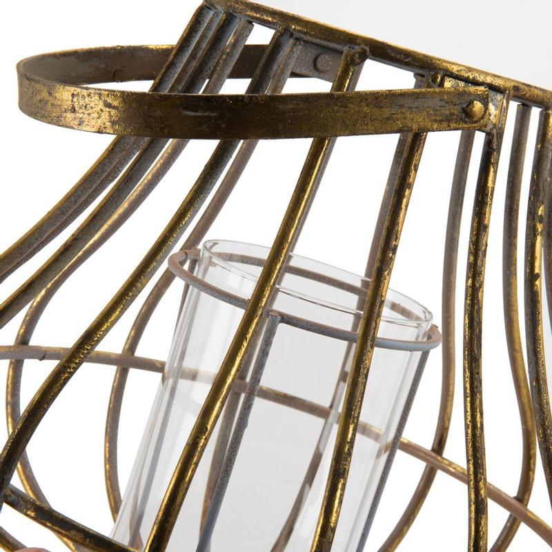 Lantaarn - goud - 29x28 cm