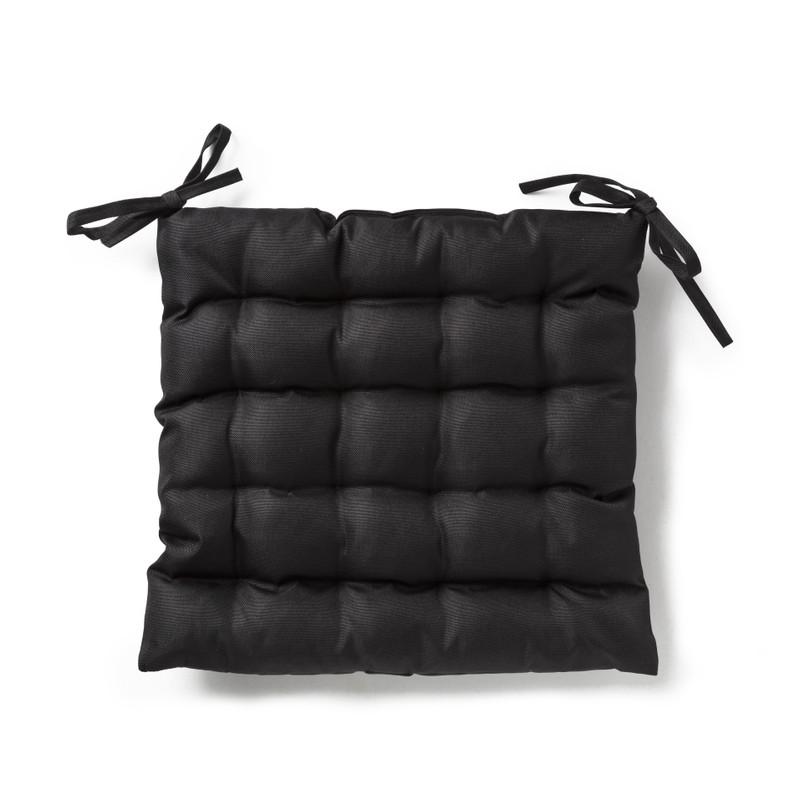 Buitenkussen zwart - 40x40 cm
