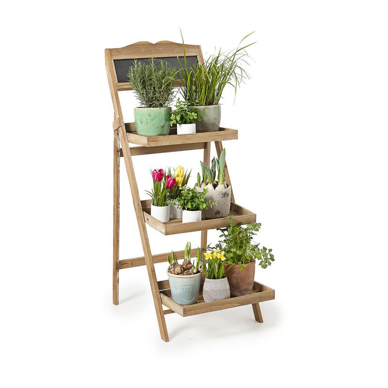 Plantenrek met krijtbord - 3 etages