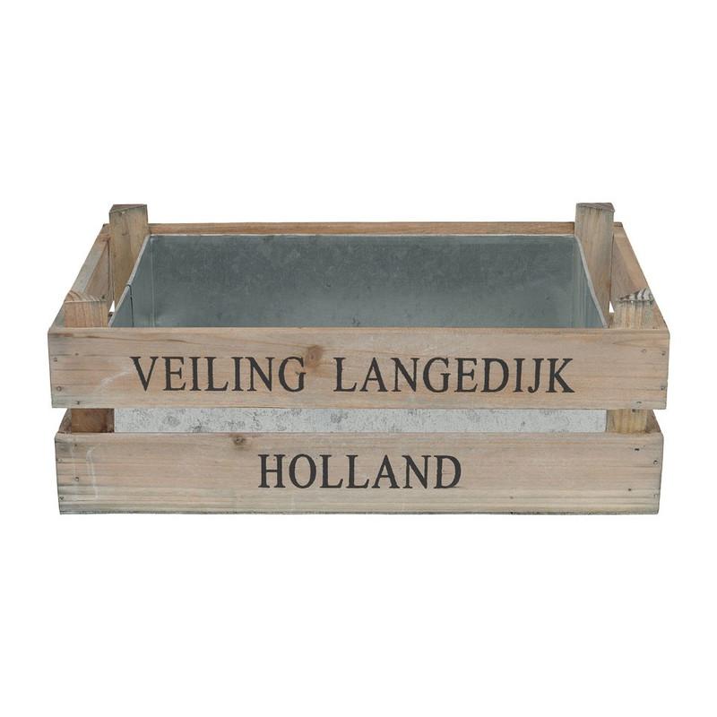 Kistje met zink - 30x20x10 cm