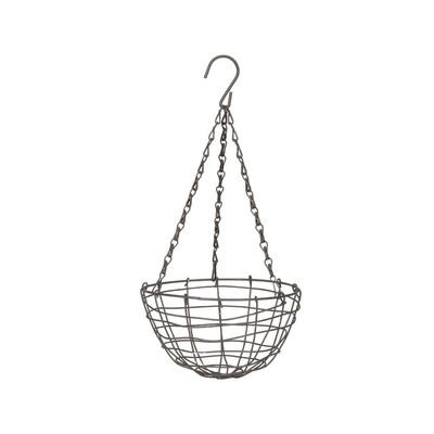 Hangbloempot metaaldraad - 23x12 cm