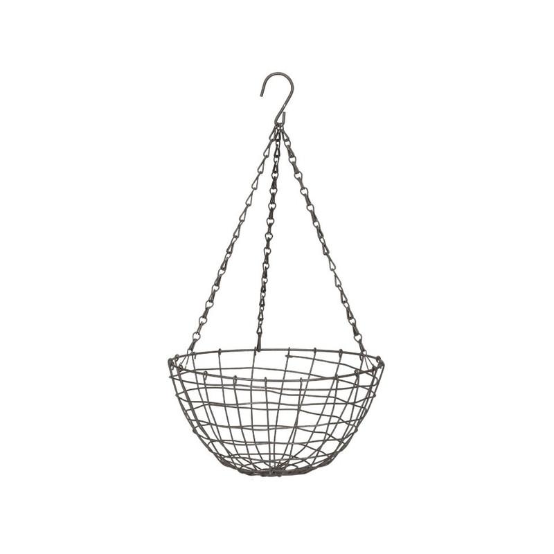 Hangbloempot metaaldraad - 31x17 cm