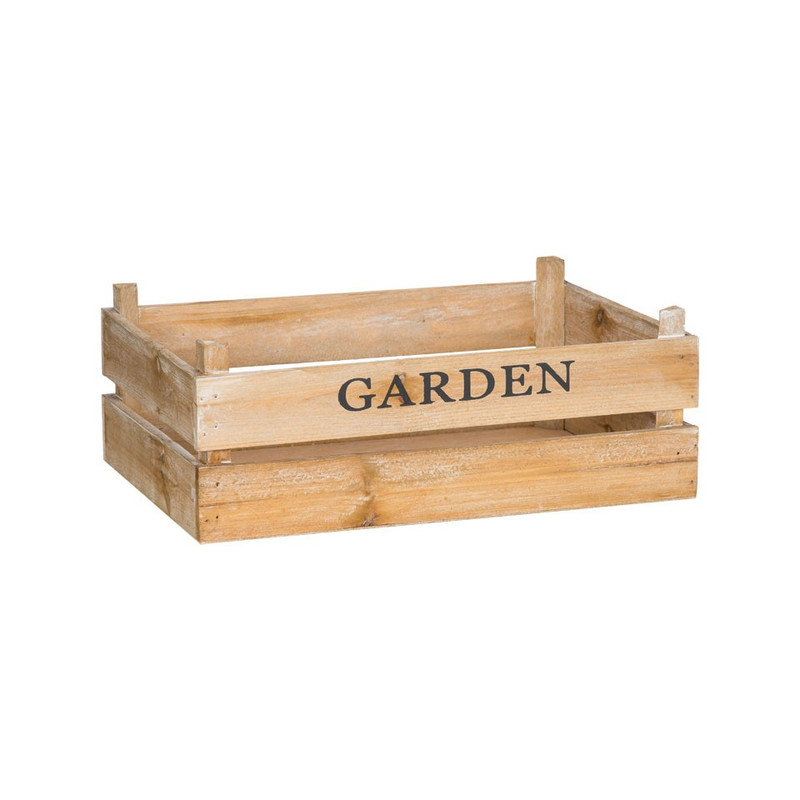 Kistje garden - 32x20 cm - bruin