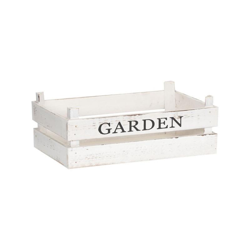 Kistje garden - 32x20 cm - wit