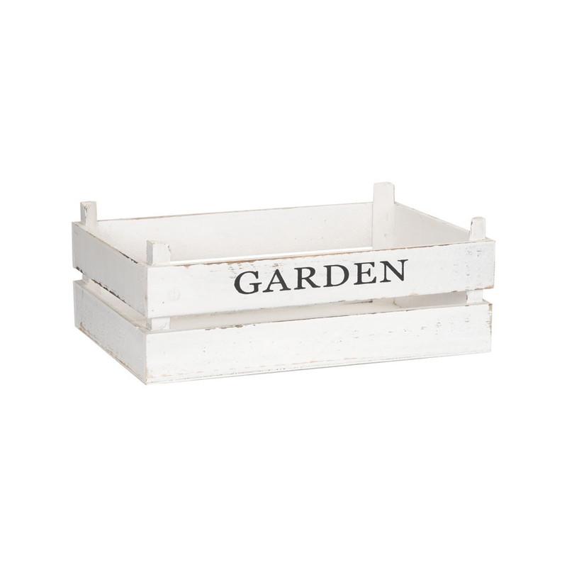 Kistje garden - 37x26 cm - wit