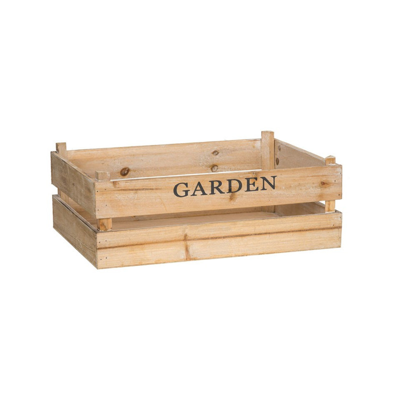Kistje garden - 42x30 cm - bruin
