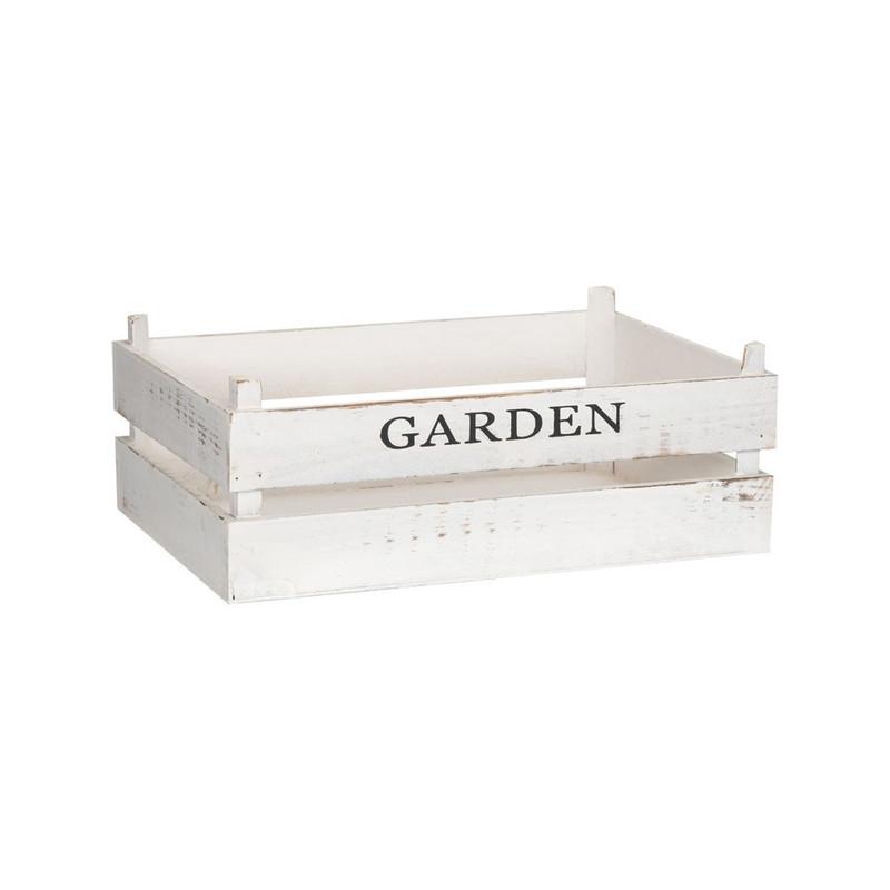 Kistje garden - 42x30 cm - wit