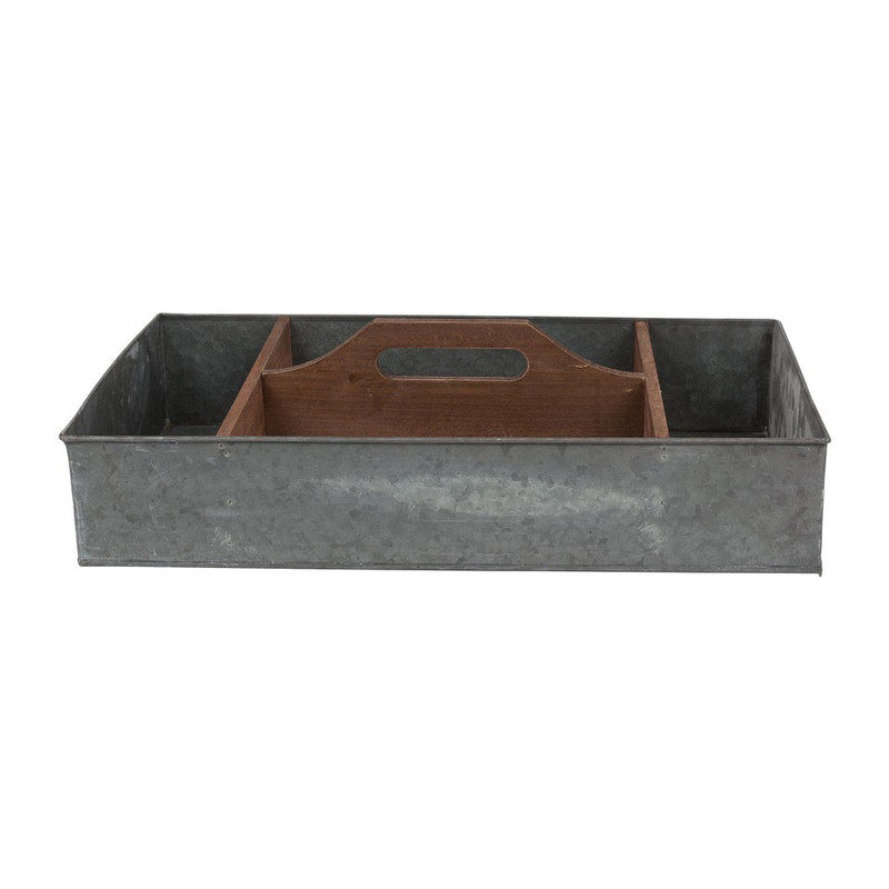 Kweekbak 4-vaks - 42x24 cm - zink
