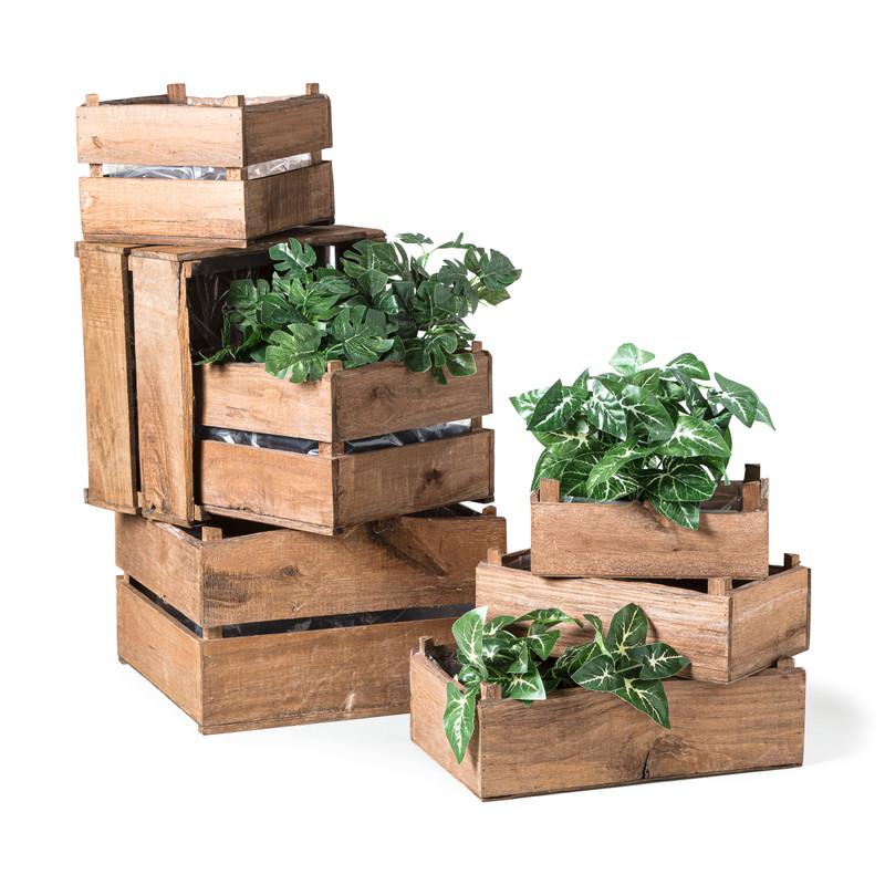 Plantenkistje vierkant - 32.5x32.5x22 cm