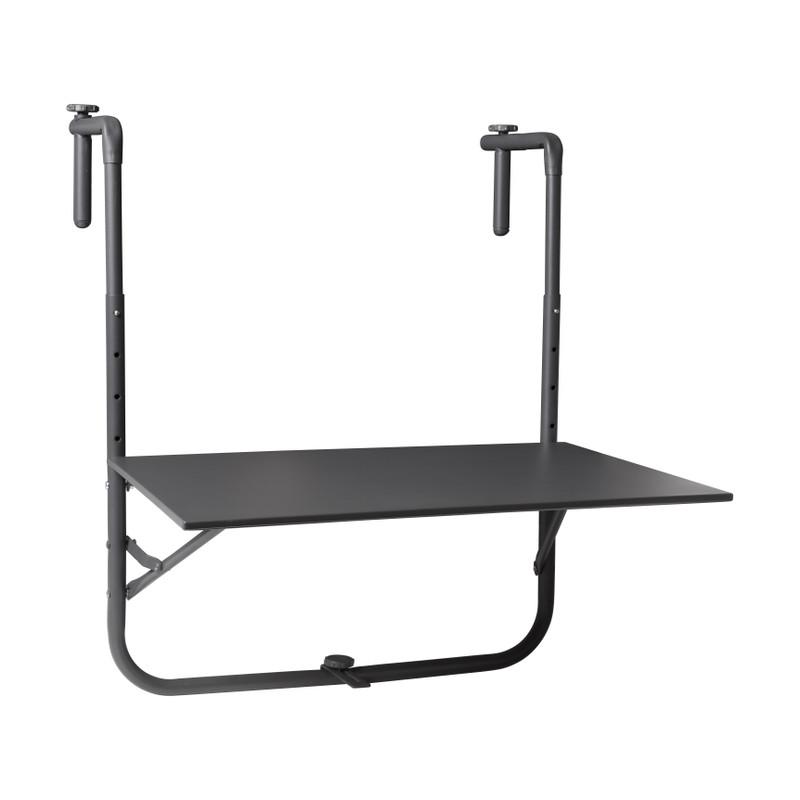 Hangtafeltje voor balkon - zwart - 60x40 cm