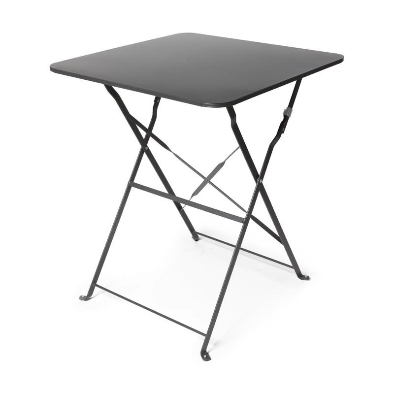 Bistro tafel vierkant - antraciet - 60x60x71 cm
