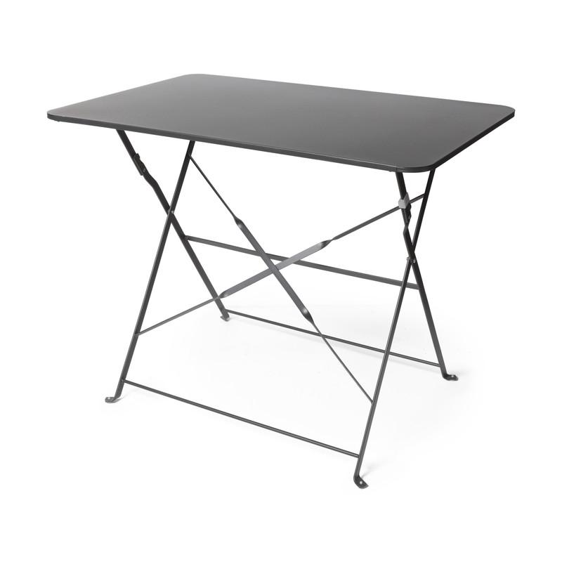 Bistro tafel rechthoekig - antraciet - 90x60x71 cm