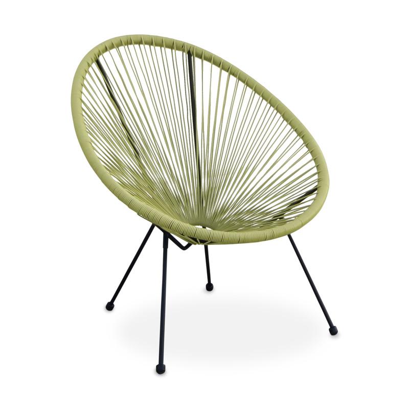 Tuinstoel metaaldraad - groen - 72x79x83 cm
