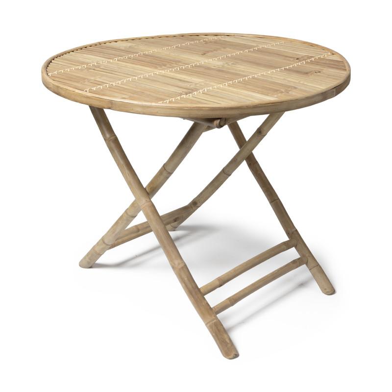 Bamboe tafel - inklapbaar - ⌀90x75 cm