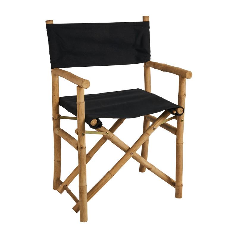 Regisseurstoel bamboe - zwart/naturel - 90x57x45 cm