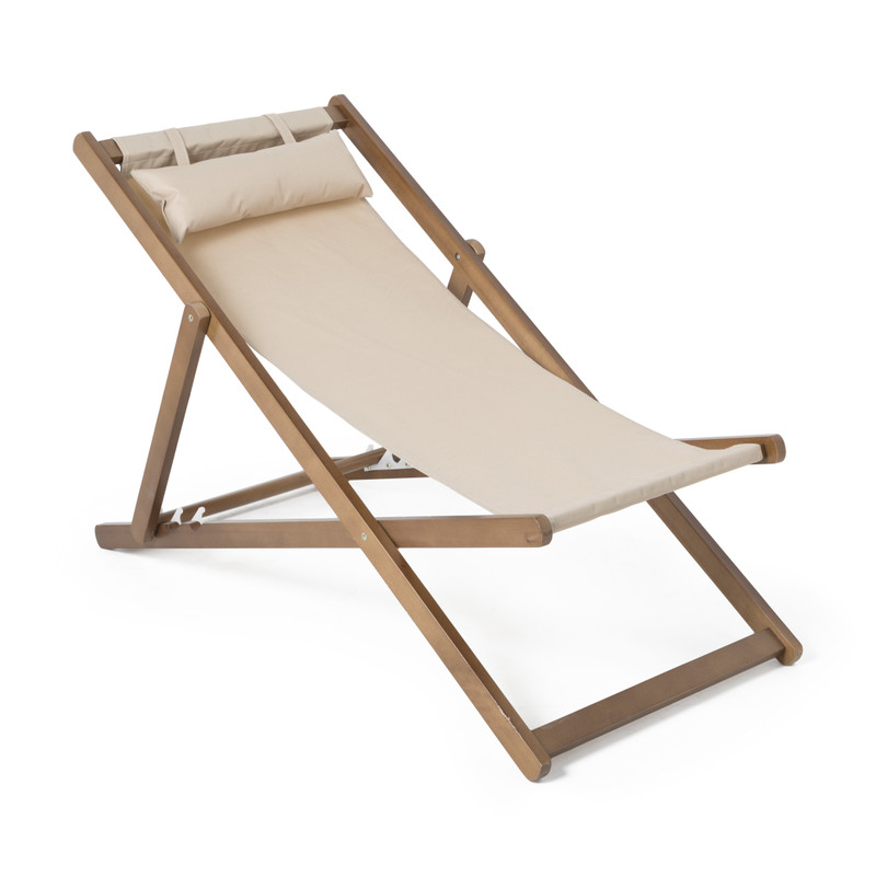 Strandstoel Rimini - wit - 106x57x80 cm