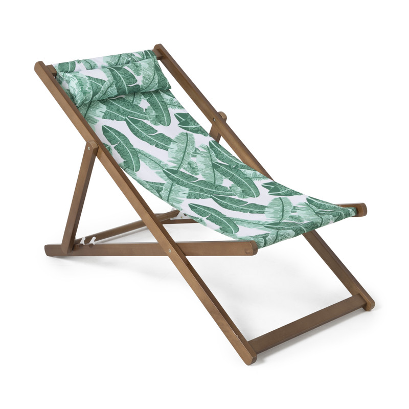 Strandstoel Rimini - leaves - 106x57x80 cm