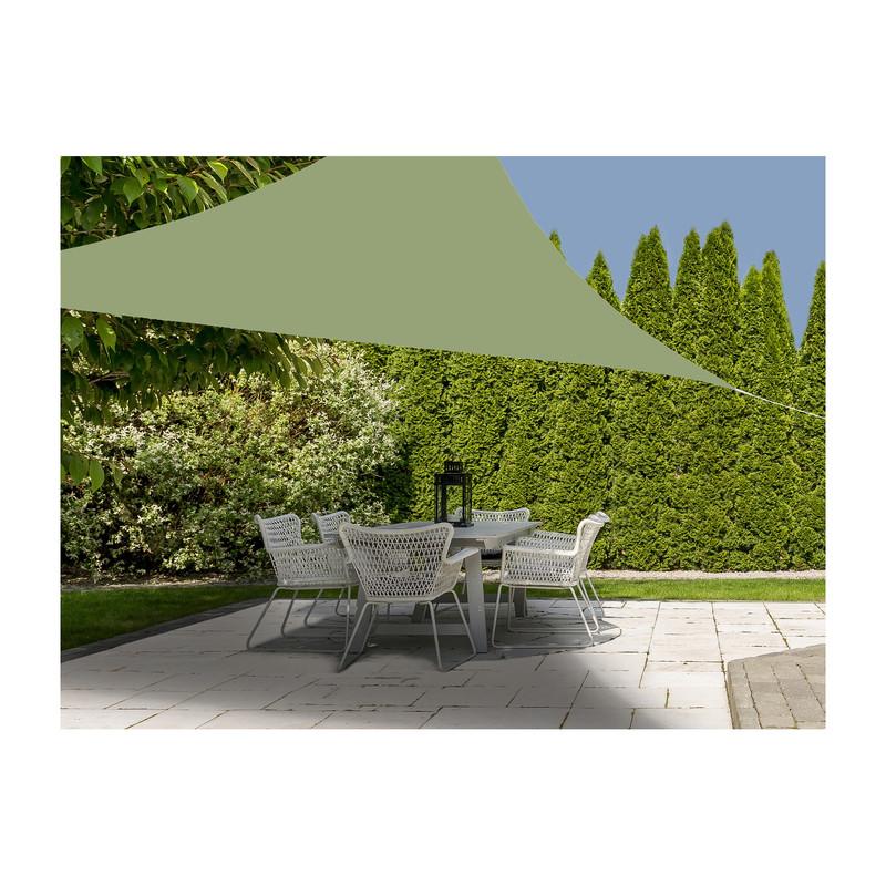 Schaduwdoek driehoek - groen - 360x360x360 cm