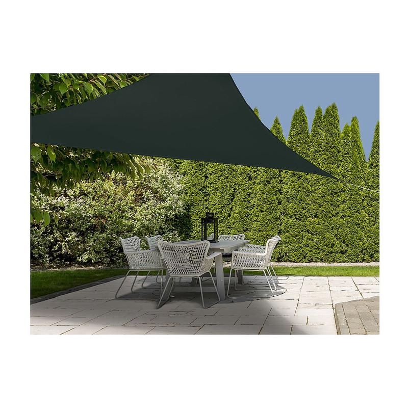 Schaduwdoek driehoek - grijs - 360x360x360 cm