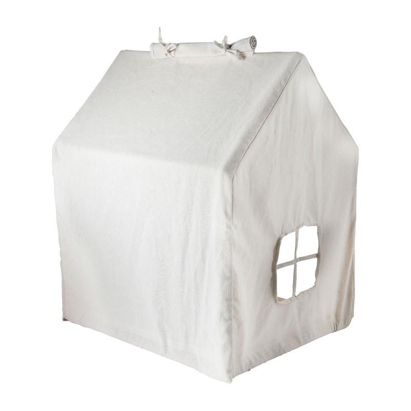 Kids speelgoedhuisje - 55x40x60 cm - wit