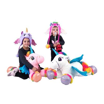 Kinder muts Unicorn - blauw