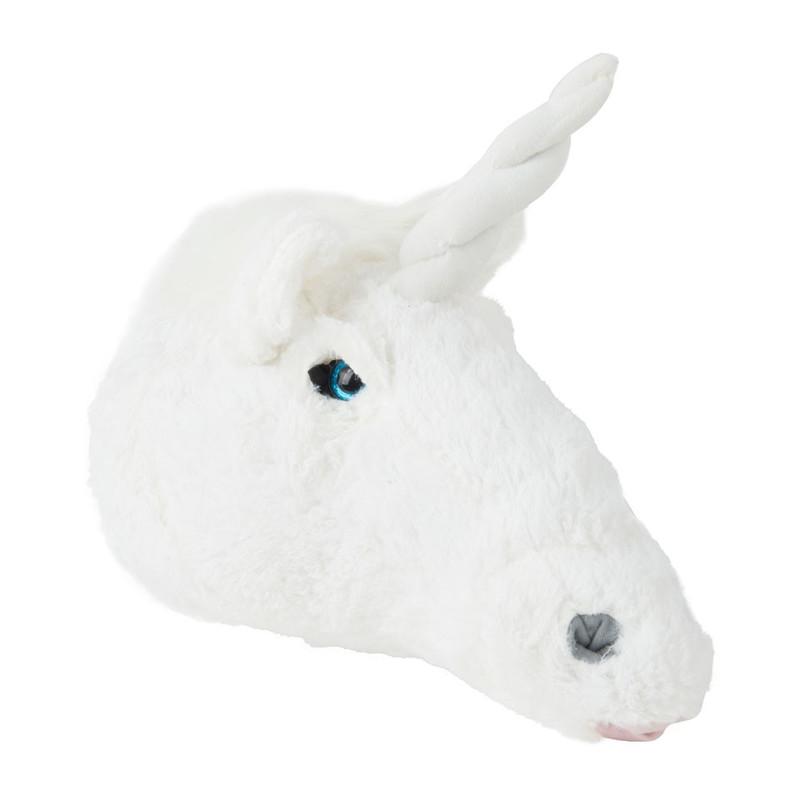Dierenkop unicorn - 25x30x15 cm