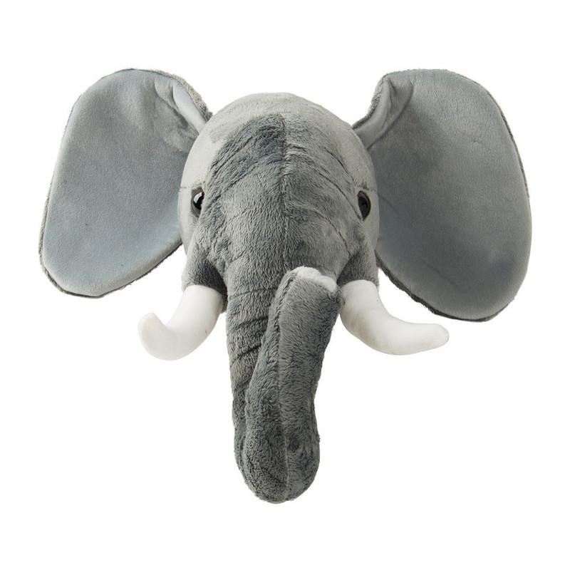 Dierenkop olifant - 20x20x40 cm